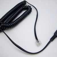GN JABRA COILED MOD QD CORD WITH RJ45-0
