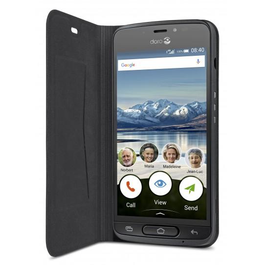 Doro 8040 Black Wallet Case-9991