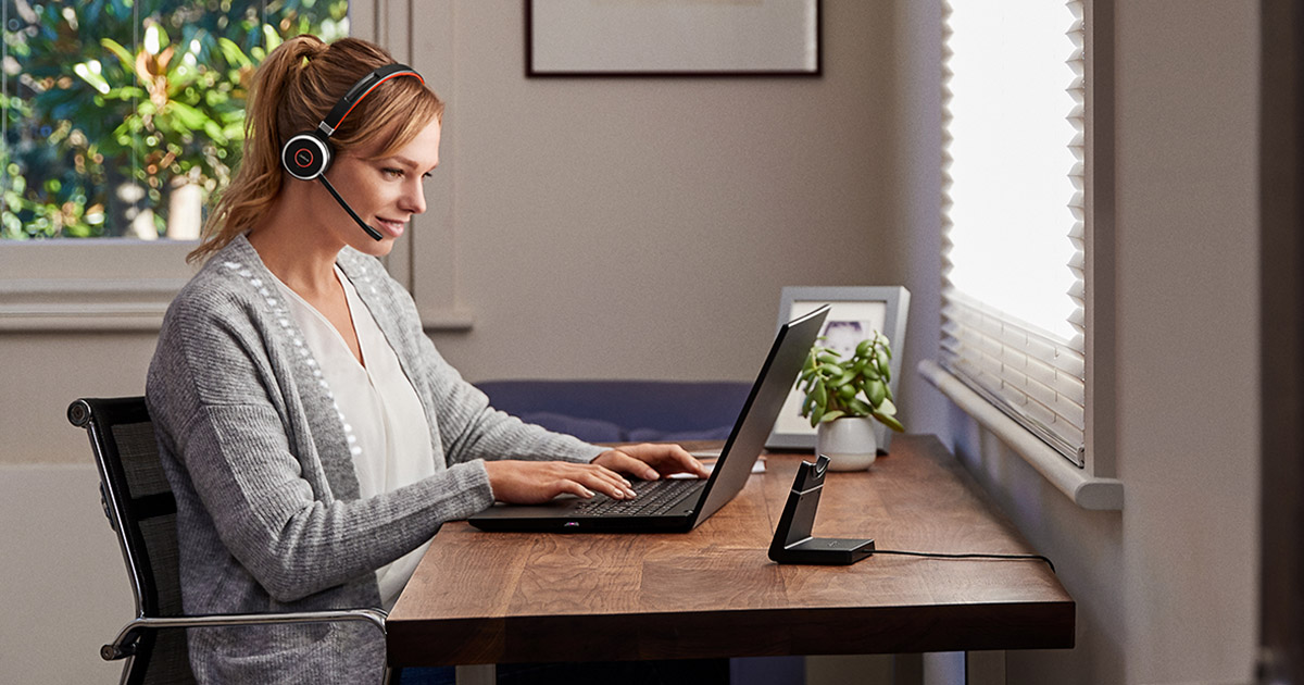 Using a headset whilst working from home